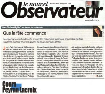 Article du Nouvel Observateur