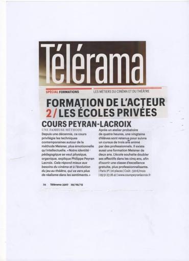 Telerama: nouvel article