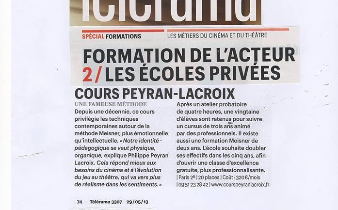 Telerama: nouvel article